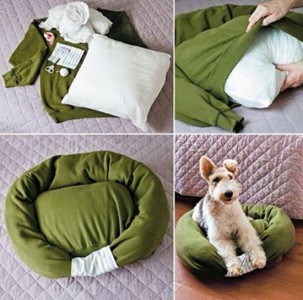 Sweatshirt pet bed