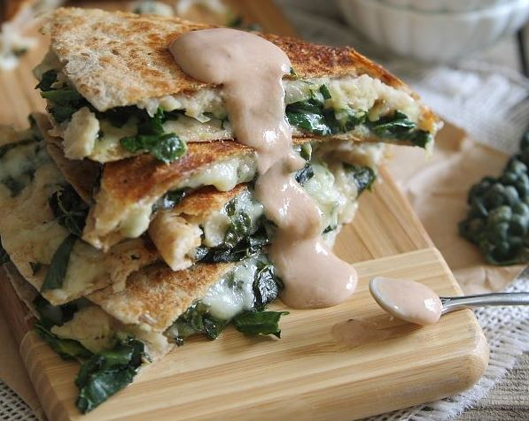 White Bean & Kale Quesadilla