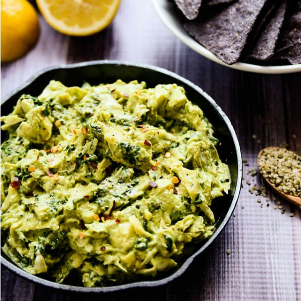 avocado kale & artichoke dip
