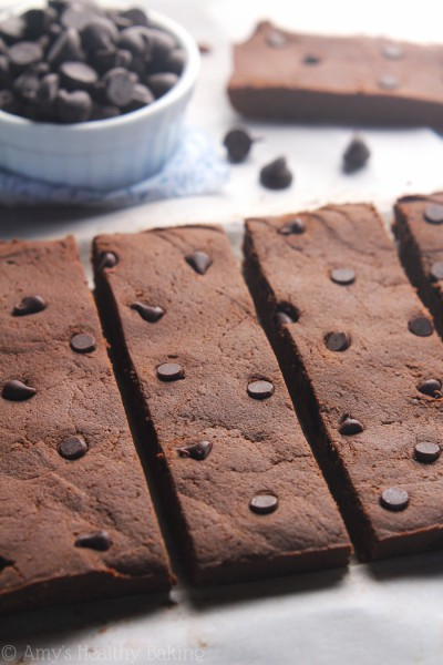 fudgy brownie batter bars